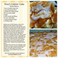 Peach cobbler cake!!