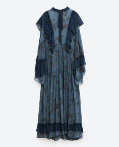 Image 8 of LONG STUDIO FRILLED DRESS from Zara