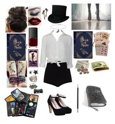 """""""Zatanna Zatara, Mistress of Magic"""" by mjdepasquale ❤ liked on Polyvore featuring River Island, NARS Cosmetics, Charlotte Olympia, Charlotte Russe, Topshop, Gab+Cos Designs, Bullet, Sonia Rykiel and Pamela Love"""