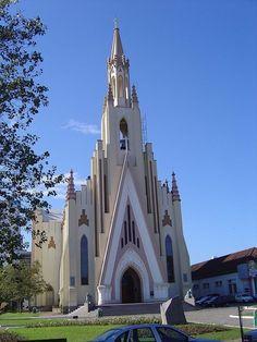 Igreja Matriz de Cristo Rei - Bento Gonçalves, Rio Grande do Sul, Brasil.