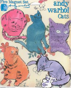 Andy Warhols Cat sketches were his commercial art trademark. Lots of weighted, emotion filled lines: Mousebreath Magazine