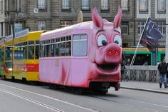 huge discount 65177 b29bc I m feeling homesick for Basel and public transportation AND really, who  doesn t love a pig tram
