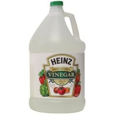 1001 uses for vinegar. It is truly versatile and very cheap -- everyone should have a huge jug in their house at all times! Go to vinegartips.com to be enlightened