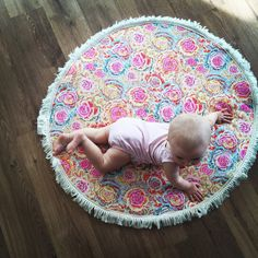 Baby play mat tummy time mat tummy time rug padded by LeCocoArchie