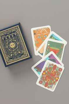 The Illuminated Tarot by Anthropologie in Blue, Kids Home Gifts, Diy Gifts, Anthropologie, Senior Gifts, Old Magazines, Rifle Paper Co, Tarot Decks, Deck Of Cards, Card Deck