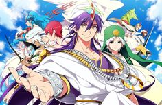 Sinbad and his 8 generals Magi: The Labyrinth of Magic