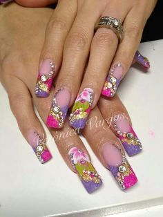 Just beautiful 3D nail art