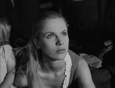 Bibi Andersson in The Seventh Seal (Ingmar Bergman, Lauren Bacall, Natalie Wood, Cary Grant, James Dean, Alfred Hitchcock, Grace Kelly, Marilyn Monroe, Harriet Andersson, Gerard Philipe