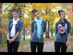 8 ways to: wear a scarf|LIV - YouTube