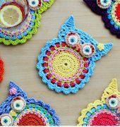 Crochet Owl Coaster por ZoomYummy
