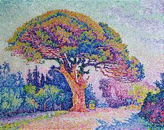 Paul Signac, the Pine Tree, St. Tropez, 1909