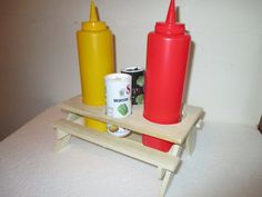 Wooden Picnic Table Condiment Holder by EastCoastWoodshed on Etsy