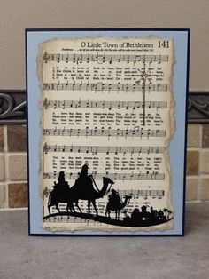 These are the cards that I made for all the choir members at church using the Music Notes Wheel, and the Come To Bethlehem Stamp Set. ...