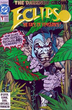 Eclipso is a fictional supervillain in the DC Comics Universe. The character is the incarnation of the Wrath of God and the Angel of Vengeance that turned evil and was replaced by the Spectre. Eclipso first appeared in House of Secrets #61 (August 1963) and was created by Bob Haney and Lee Elias. Rare Comic Books, Comic Books For Sale, Comic Book Covers, Image Comics, Dc Comics, Angel Of Vengeance, Dr Fate, The Spectre, Midtown Comics