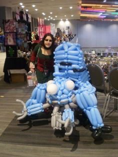sunako from shiki and the tachikoma in artist alley on sunday at ohayocon