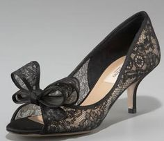 Help? Glitter Lace or Black Lace Peep Toes? « Weddingbee Boards