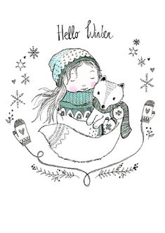 Marieke ten Berge 'Kaart Hello Winter'