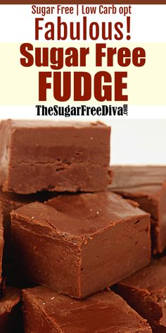 FABULOUS Sugar Free Fudge offers that perfect explosion of chocolate. And sometimes you just need a bit of a jolt of that very thing. Dessert treat recipe without added sugar. Read more at: thesugarfr Sugar Free Fudge, Sugar Free Deserts, Sugar Free Baking, Sugar Free Sweets, Sugar Free Candy, Sugar Free Cookies, Sugar Free Recipes, Diabetic Friendly Desserts, Low Carb Desserts