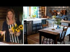Come transform the cottage kitchen for Autumn with me. - YouTube Virginia Creeper, Homemaking, Homesteading, Fall Decor, Farmhouse Decor, Cottage, Autumn, Kitchen, Gingham Fabric