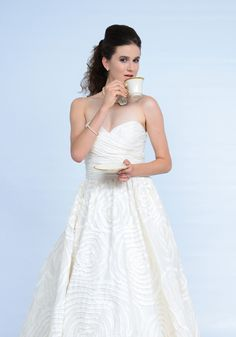 Sweetheart strapless ball gown, Wtoo by Watters. #wedding #dress