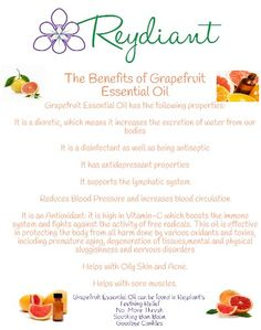 The benefits of Grapefruit Essential Oil! Grapefruit Benefits, Grapefruit Essential Oil, Natural Products, Essential Oils, Essentials, Food, Eten, Meals, Essential Oil Uses