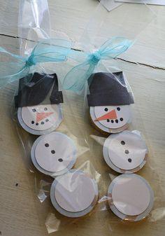 Snowman Party Favors