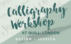 Quill, London workshop blog from www.designjessica.co.uk