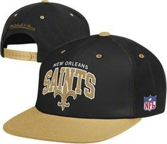 bd280a055fb New Orleans Saints Mitchell   Ness Throwback Arch with Logo Snapback Hat