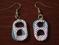 polka dot hand painted pop-tab earrings