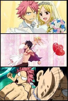 Don't steal Lucy from Natsu, Gray. XD