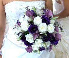 wedding flowers purple and white - Google Search