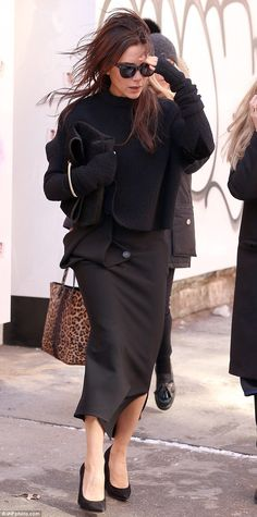 Victoria Beckham - At the Victoria Beckham Fall/Winter 2015 Fashion Show @ New York Fashion Week.  (February 2015)