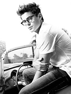 Zac Efron for @Cassandra Ernst who loves boys in hipster spectacles. You're welcome. ;)