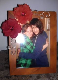 Picture frame with us inside.