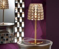 Lámpara Mesa Dorada Hilda #Ambar #Muebles #Deco #Interiorismo #Iluminacion | http://www.ambar-muebles.com/lampara-mesa-dorada-hilda.html