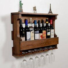 Wine Bottle Rack, Bottle Wall, Wine Glass Holder, Glass Rack, Bottle Opener, Wood Wine Holder, Wine Glass Shelf, Wine Shelves, Glass Shelves