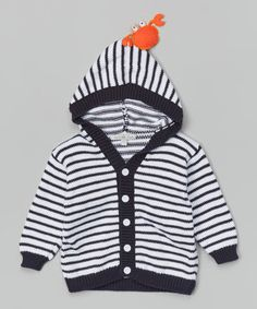 Another great find on #zulily! Black & White Hooded Cardigan - Infant & Toddler by Victoria Kids #zulilyfinds