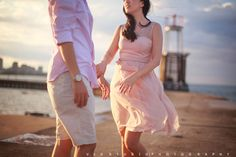 Engagement photo in summer of Chicago