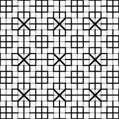 """Fill-in Pattern for Blackwork Embroidery"" / from website Fill Patterns for Blackwork Embroidery."