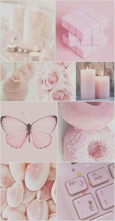 Wall Paper Pink Pastel Polka Dots Ideas For 2020 Pink Polka Dots Wallpaper, Pink Wallpaper Iphone, Aesthetic Pastel Wallpaper, Aesthetic Wallpapers, Pink Butterfly, Pink Flowers, Roses Tumblr, Aesthetic Collage, Everything Pink