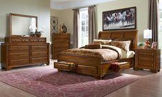 American Signature Furniture - Sanibelle Bedroom Collection-Queen Storage Bed $599.99
