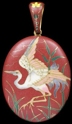 Locket Paris, France (made) 1867-1870 (made)  Artist/Maker: Alexis Falize, born 1811 - died 1898 (maker)  Antoine Tard, born 1800 (maker) Gold with cloisonné enamel