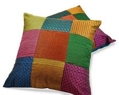 Cushion Cover Designs, Pillow Cover Design, Diy Pillow Covers, Cushion Covers, Indian Pillows, Jute Crafts, Patchwork Pillow, Blue Throw Pillows, Teal And Pink