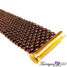 Bransoletka Beaded Elegance - Bronze | Tarragon Art - stylowa biżuteria artystyczna