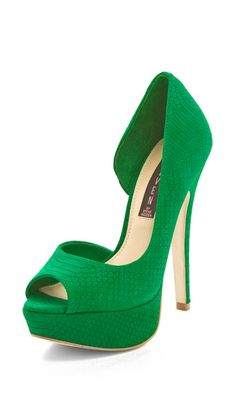 Steven Peep Toe Platform Pump- loving this color