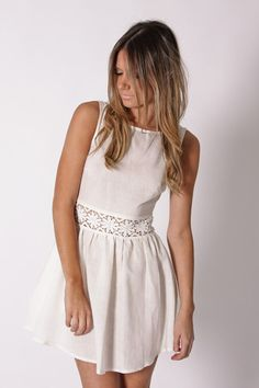 eva summer dress- white/ if dissent color would make cute bridesmaid option love the neckline