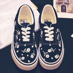 Japanese Harajuku Summer Floral Canvas Shoes SD00178