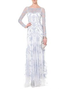 Powder Blue Francine Tattoo Dress | Temperley London | Avenue32