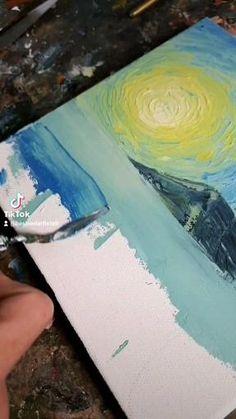 Islamic Art Canvas, Easy Paintings For Beginners, Boat Drawing, Easy Canvas Art, Boat Painting, Painting Lessons, Art Tutorials, Parsley, Illustration Art