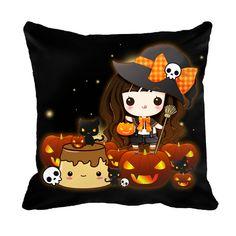Kawaii Halloween Cushion case - ChibiBunny